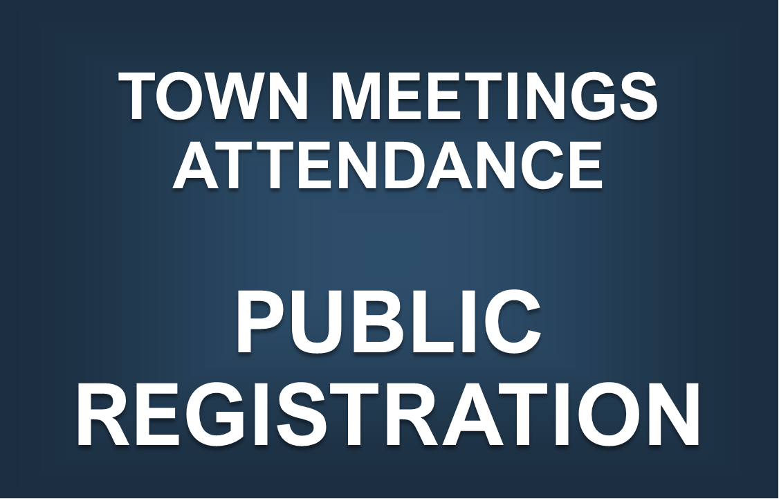 Town Meeting Registration